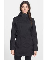 The North Face 'Laney' Trench Raincoat black - Lyst