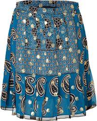 Anna Sui Silk Blend Paisley Print Skirt - Lyst