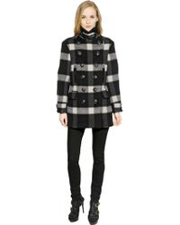 Burberry Brit | Weltford Check Wool Blend Peacoat | Lyst