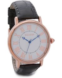 Shashi - Classique Watch - Rose Gold/Grey - Lyst