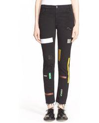 Aries - Supertight Taped Slim Leg Jeans - Lyst