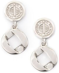 Marc By Marc Jacobs - Cable Linkdrop Earrings Silvertone - Lyst