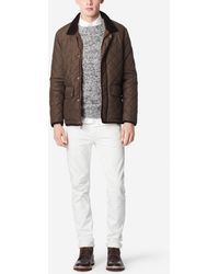 Cole Haan | Quilted Nylon Jacket - Corduroy Accents | Lyst