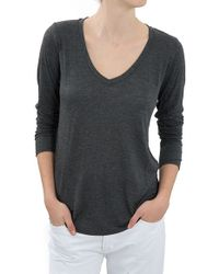 The Lady & The Sailor L/S V-Neck Tee - Lyst