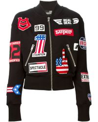 Love Moschino Race Patch Sport Jacket - Lyst