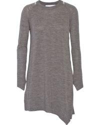Alexander Wang Wool-Blend Mini Dress - Lyst