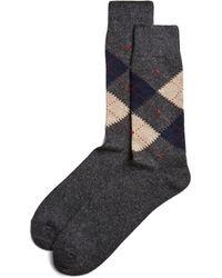 Bloomingdale's - Cashmere Argyle Socks - Lyst