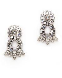 Dannijo Grace Earrings  Silvercrystal - Lyst