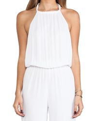 Indah Tang Open Back Jumpsuit in White - Lyst