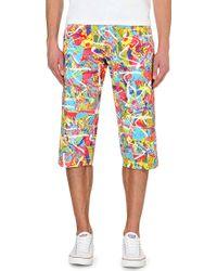 Comme des Garçons Abstract Print Cotton Shorts - For Men - Lyst