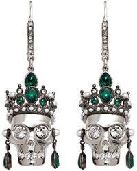 Alexander McQueen | Swarovski Crystal Royal Skull Earrings | Lyst