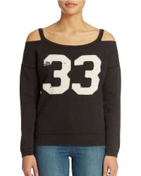 Free People French Terry Stadium Sweatshirt - Lyst