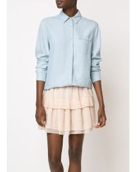 See By Chloé | Short Ruffle Skirt Pink | Lyst