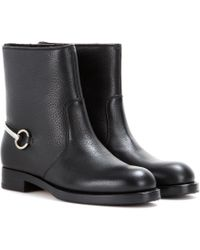 Gucci Susan Leather Boots - Lyst
