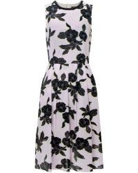 Paul Smith Black Label Floral Silk Dress - Lyst