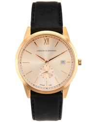 Larsson & Jennings - Saxon Gold-Plated And Leather Watch - Lyst