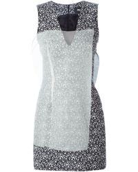 Yang Li Sheer-Panel Appliqué Tweed Dress - Lyst