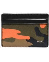 Michael Kors - Jet Set Men'S Camouflage Card Case - Lyst