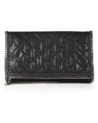 Stella McCartney Quilted Faux-Leather Chain Shoulder Bag - Lyst
