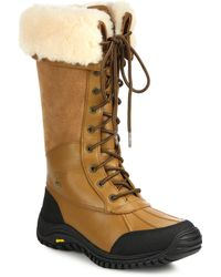Ugg | Adirondack Leather, Suede & Shearling Lace-up Boots | Lyst