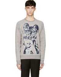 Marc Jacobs Heather Grey Art Print Bst Edition Sweatshirt - Lyst