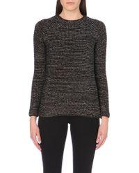 Maje Metallic Thread Knitted Jumper - Lyst
