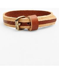 Caputo & Co. . Skived Leather Wrap Bracelet - Tan - Lyst