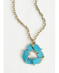 Zad Fashion Inc. - Earth Its Weight In Gold Necklace - Lyst