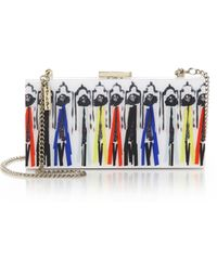 Alice + Olivia | Stacey Montage Acrylic Clutch | Lyst
