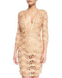Meskita - See-through Metallic Crochet Coverup Dress - Lyst