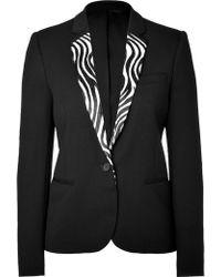 The Kooples Wool Blazer with Zebra Trim - Lyst