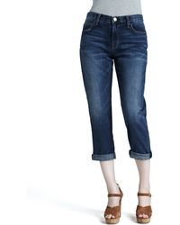 Current/Elliott The Boyfriend Cropped Jeans Loved 24 - Lyst