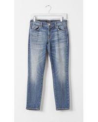 J Brand Crop Ellis Jeans blue - Lyst