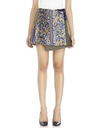 Suno Jacquard Wrap Mini Skirt - Lyst