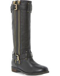 Dune Traffik Leather Biker Boots - Lyst