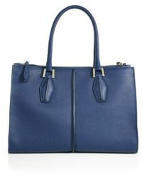 Tod's D-Cube Medium Two-Tone Leather Shopper - Lyst