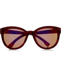 River Island Red Mirror Lens Cat Eye Sunglasses - Lyst
