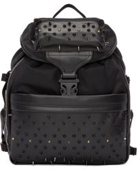 Alexander McQueen | Black Studded Techno Clip Backpack | Lyst