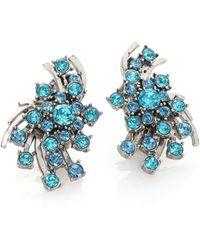 Oscar de la Renta | Crystal Clip-on Earrings | Lyst
