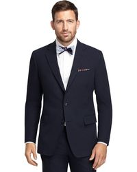 Brooks Brothers Own Make Navy Seersucker 101 Suit - Lyst