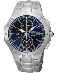Seiko Men'S Chronograph Coutura Solar Alarm Stainless Steel Bracelet Watch 41Mm Ssc197 - Lyst