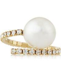 Lisa Freede - Kris Crystal Pearly Wrap Ring - Lyst