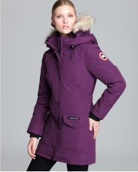 Canada Goose hats sale cheap - Canada goose Trillium Parka Fusion Fit in Blue (Navy) | Lyst