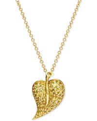 Alex Soldier - 18k Yellow Sapphire Leaf Pendant Necklace - Lyst