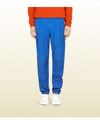 Gucci Techno Cotton Cargo Pant - Lyst