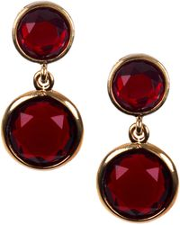 Anne Klein - Beacon Siam Double Drop Clip Earrings - Lyst