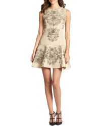 RED Valentino B Jewelprint Dress - Lyst