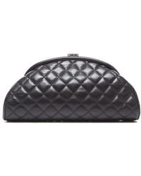 Chanel Preowned Black Lambskin Timeless Clutch - Lyst