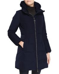 Moncler Hooded Long Oversize Down Jacket - Lyst