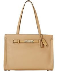 Coach Polshd Pebble Leather Small Swagger Tote - Lyst